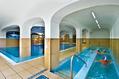 La piscina termale e le vasche Kneipp.